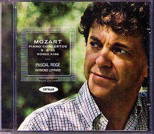 Pascal loge: Mozart Piano Concerto No. 9 & 25 Raymond Leppard CD Piano concerts