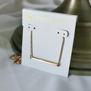 Kendra Scott Kelsey Pendant Necklace Rose Gold