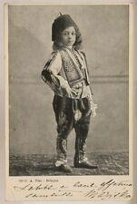 CARTOLINA BAMBINO IN COSTUME TIPICO POSTCARD VIAGGIATA f/p 1904 #923