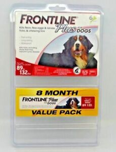 Frontline Plus Dog Value Pack Flea and Tick Treatment - 8 Doses