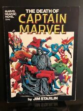 DEATH of CAPTAIN MARVEL Graphic Novel GN 1982 1st Print JIM STARLIN THANOS THOR