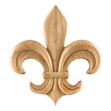 Box of 12- Fleur de lis- Wood Appliques-  #PAPL-14
