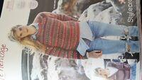 New Stylecraft Life Heritage Aran Womens Jumper and Cardigan Knitting Pattern...