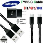 3/6/10Ft Fast Charger Type C USB-C Cable For Samsung Galaxy S20 S10 S9 S8 Note 8