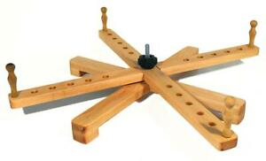 """Yarn Swift - Handmade Wooden Amish Style Collapsable Winder for Tabletop Use 24"""""""