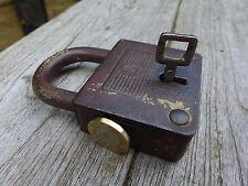 Antico/Vintage Lucchetto con una sola chiavetta, funzionante, HOBBY, collezionista, Mark.