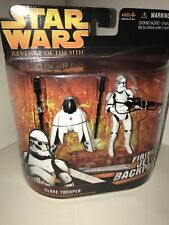 HASBRO STAR WARS REVENGE OF THE SITH DELUXE CLONE TROOPER FIRING JET BACKPACK