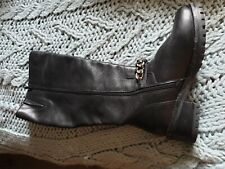 Women Black Real Leather Boots by Faith size 39/6
