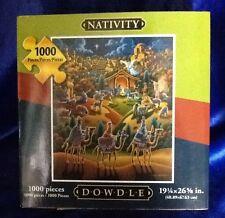 Dowdle Folk Art Nativity 1000 Piece Puzzle 19-1/4 x 26-5/8 Christmas Sealed