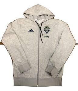 Adidas MLS Seattle Sounders FC Travel Jacket Heather Gray EH8659