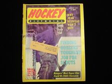 January 1971 Hockey Pictorial Magazine - Roger Crozier Buffalo Sabres Cover