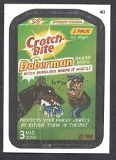 Wacky Packages All New Series 11 (Topps 2013) Cloth Parallel Card #40 Doberman