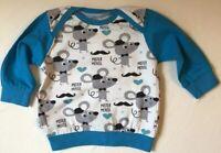 Sweat-Shirt Mister Mouse Handmade Handgemacht Einzelstück Gr. 62
