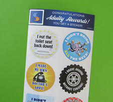 Adult Men's Reward Stickers Series 3 You Adulted Today adult humor