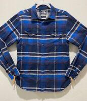 Men's The North Face Plaid Shirt Size S Button Down Long Sleeve Pockets Cotton