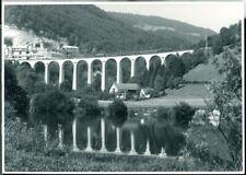 Photo SBB CFF FFS Re 4/4 I 100?? on a bridge where? Switzerland 1974 original