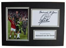 Raimond van der Gouw Signed Autograph A4 photo display Manchester United COA