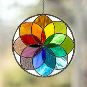 StainedAcrylic Rainbow Window Panel Hanging Suncatcher Wall Pendant OrnamentGift