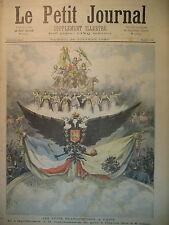 RUSSIE FETE FRANCO-RUSSE CARROUSSEL GALA DE L'OPERA PARIS LE PETIT JOURNAL 1893