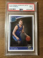2018-19 Donruss Optic #177 Luka Doncic Dallas Mavericks RC Rookie PSA 9 MINT