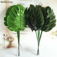 12pcs Monstera Single Artificial Leaves Plastic Silk Fake Leaves Party Decor