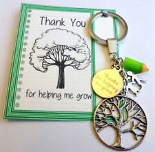 Thank you for helping me Grow Teacher Gift at End of Term Key Ring Tree of Life