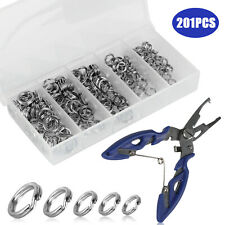 200pcs Stainless Steel 5 Size Fishing lures Split Rings For Fish Snap Connector