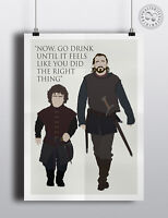 GAME OF THRONES - Bronn Quote  Minimalist Poster Modern Wall art Posteritty
