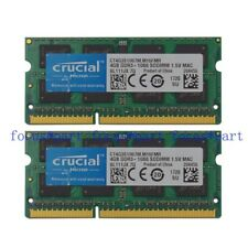 Crucial 8GB 2X 4GB PC3-8500 DDR3-1066MHz  SODIMM 204pin Laptop Memory RAM MAC