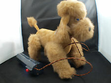 Japan chien caniche dog battery moteur piles ancien 20 cm