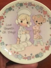 Precious Moments - Collector's Plate - Love Beareth All Things - 1992