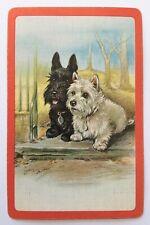 Vintage Swap/Playing Card - SCOTTIE & WESTIE DOGS - LUCY DAWSON ARTIST