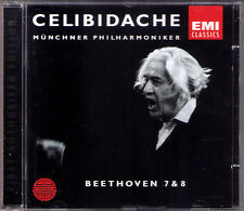 Sergiu Celibidache: Beethoven Symphony No. 7 & 8 Monaco esibirsi live CD