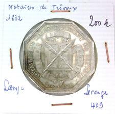 JETON NOTAIRES - TREVOUX - POINÇON LAMPE - 1832 - LEROUGE 409