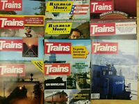 (Lot of 11) Various vtg. Trains and Railroad Model Craftsman Magazines 70's 80's