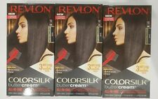 (3) Revlon 10 10N Black Ammonia Free Hair Color Colorsilk Buttercream