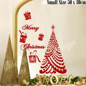 50cmLuxury Merry Christmas Tree Gift Present Waterproof Wall Shop Window Sticker