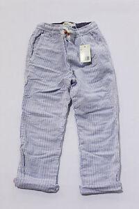 Boden Boys Striped Smart Pull-On Pants AM1 Sea Blue/Ivory Seersucker Size 6Y NWT