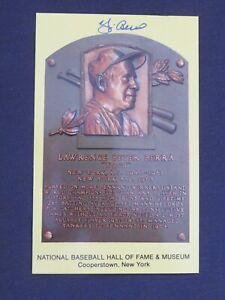 Guaranteed Authentic Yogi Berra Autographed Gold Hall Of Fame Plaque HOF