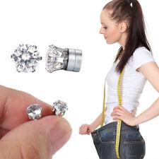 Boucles d'Oreilles Diamant - Bio Aimant Minceur Perte de Poids Naturelle - Neuf