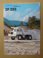 PERLINI  DP 255 dump truck - Muldenkipper   brochure / Prospekt  1984.