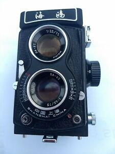 Seagull 4BI-642058 - Doppeläugige Mittelformatkamera mit Fototasche