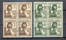 DR-3.Reich 643/44 VIERERBLOCK gest. (A1301