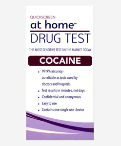 AT HOME  DRUG TEST FOR COCAINE  easy to use 1 KIT