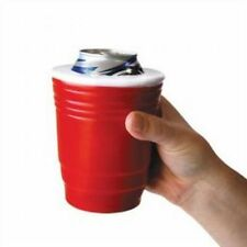 RED CUP SOLO | College Party Fun Beer Can Cup Foam Cooler Holder Coozie Koozie