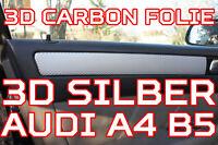 Audi A4 B5 ORIGINAL 3D CARBON ZIERLEISTEN FOLIEN SET 3D SILBER CARBONFOLIE