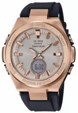 Casio Ladies Baby-G Black and Rose-Tone Quartz Watch MSGS200G-1A