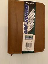 Dayrunner Leather Planner Organizer Business Binder 3 Ring 7 Hole 55x85 Tan