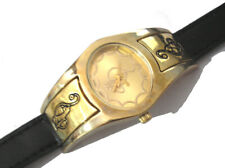 Gold Tone Metal Case Leather Band Baby Phat Ladies Watch Item 5545