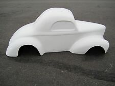 1941 Willys Coupe hot rod stroller pedal car fiberglass body 1/4 scale
